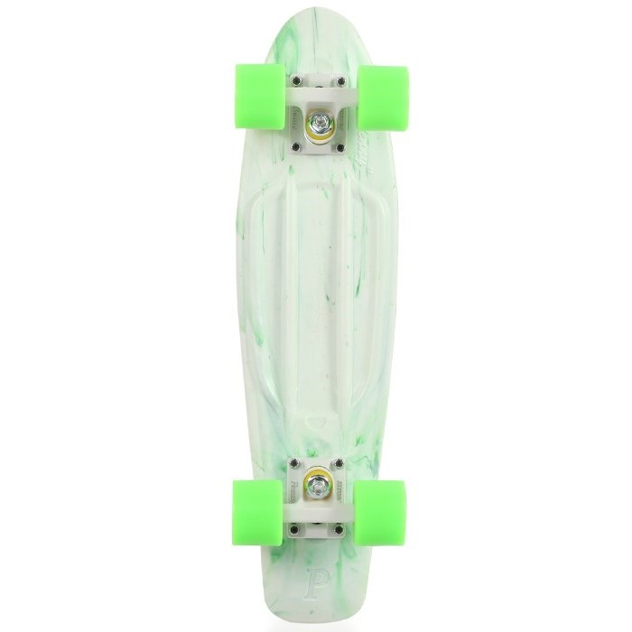 Penny Marble 22 Quot Complete Skateboard White Green Deck