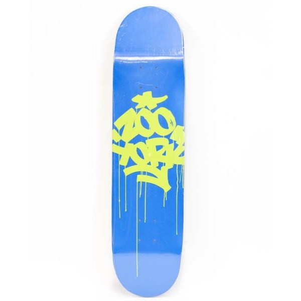 zoo york logo series skateboard deck blue online