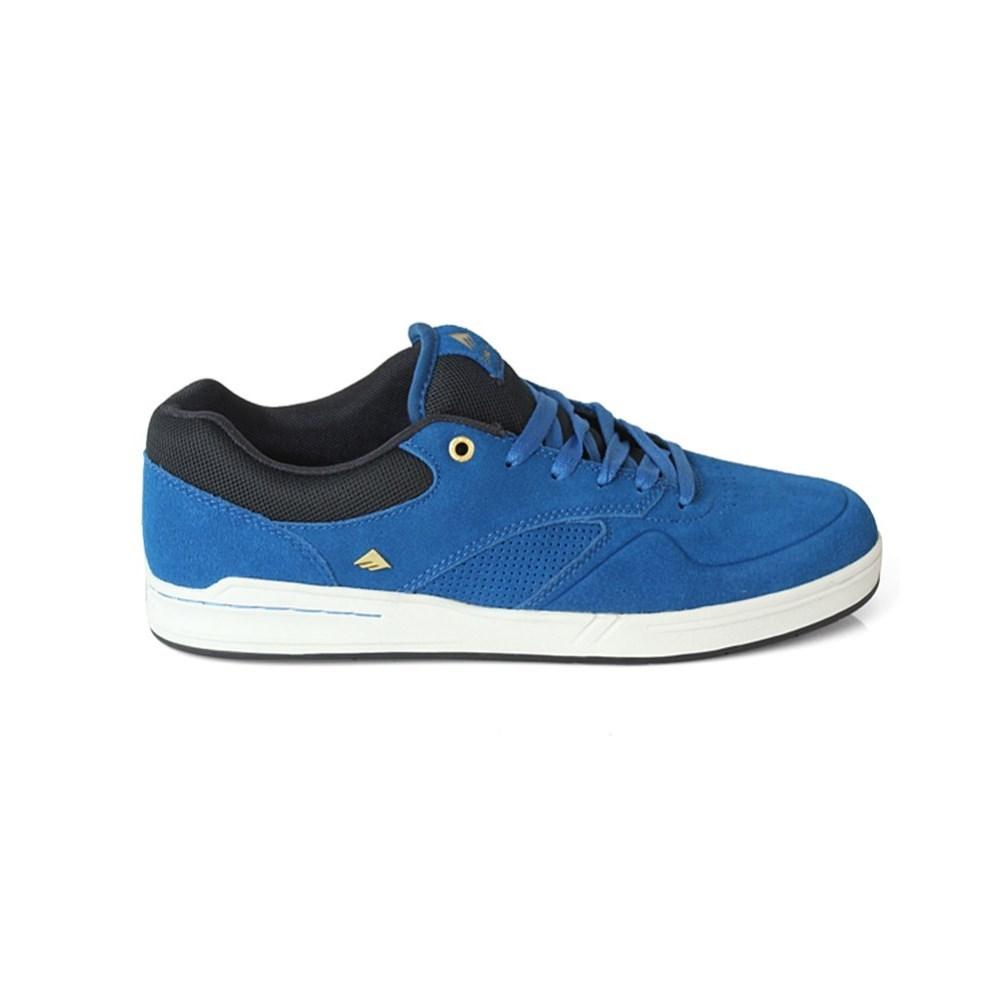 emerica the heritic mens skate shoes navy blue gold